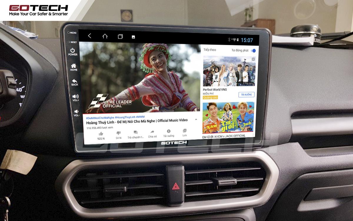 Nghe nhạc, xem phim, giải trí vô tận trên màn hình GOTECH cho xe Ford Ecosport 2018-2020