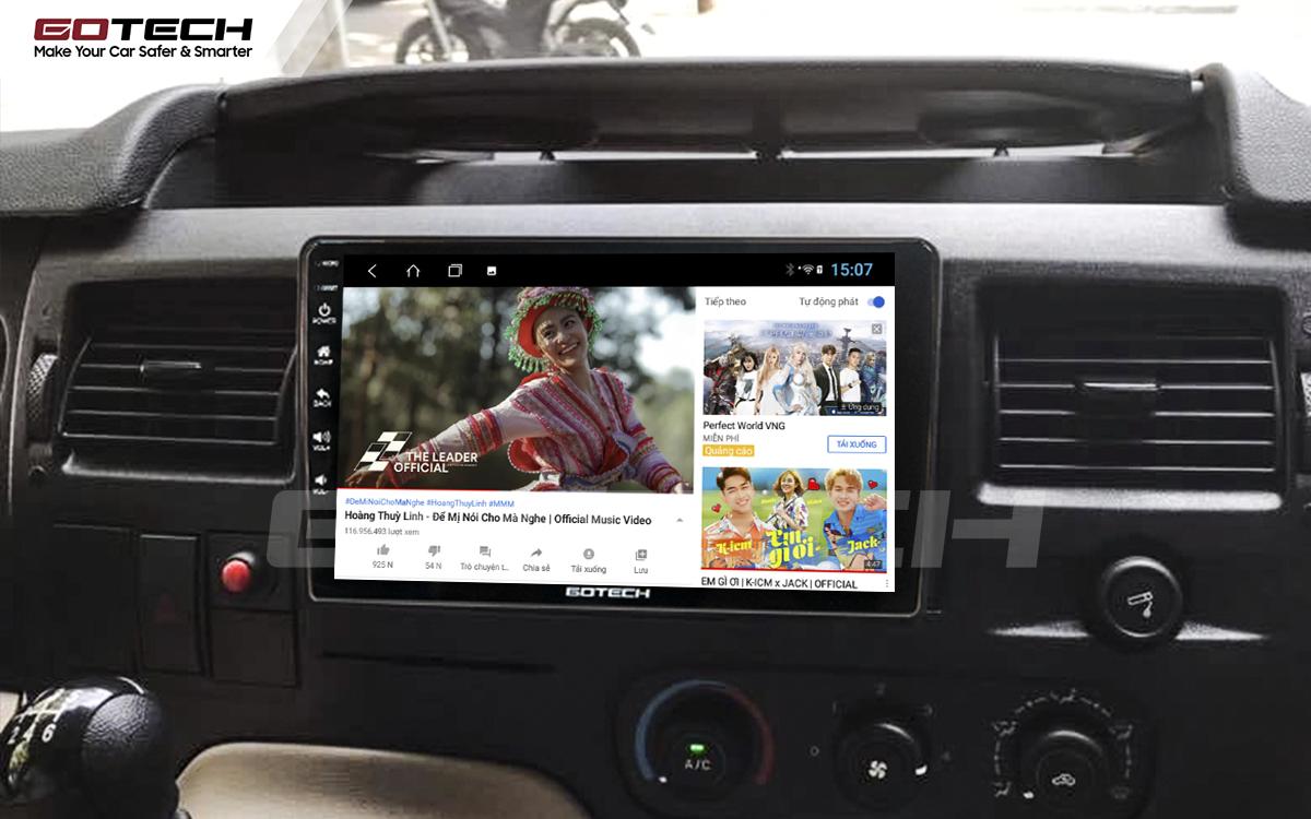 Nghe nhạc, xem phim, giải trí vô tận trên màn hình GOTECH cho xe Ford Transit