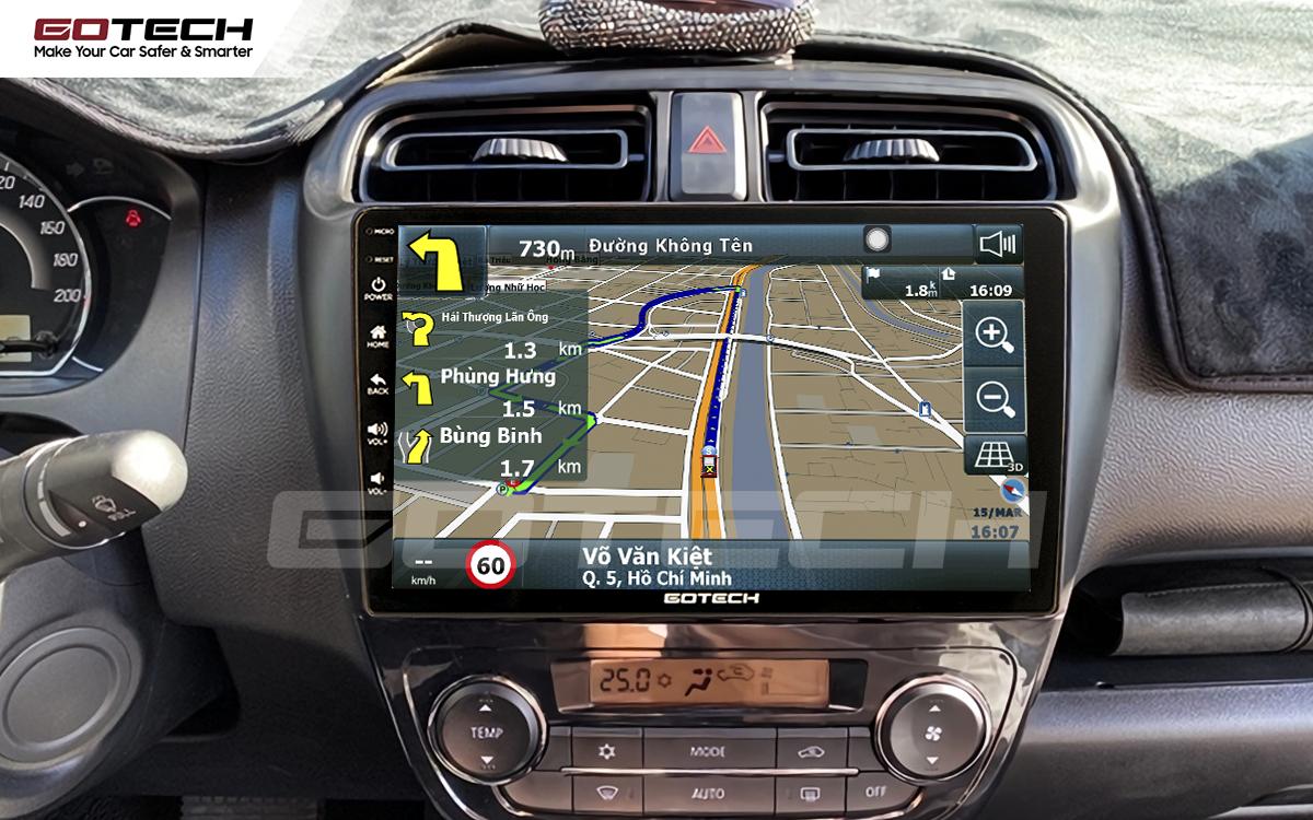 Phần mềm dẫn đường thông minh trên màn hình Android Gotech.