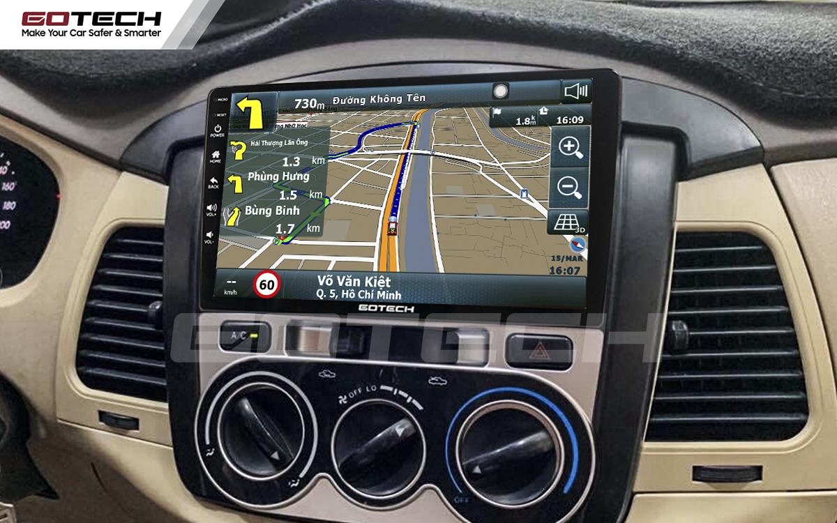 Tích hợp phần mềm dẫn đường Vietmap trên màn hình ô tô thông minh Gotech cho xe Toyota Innova 2006-2011.