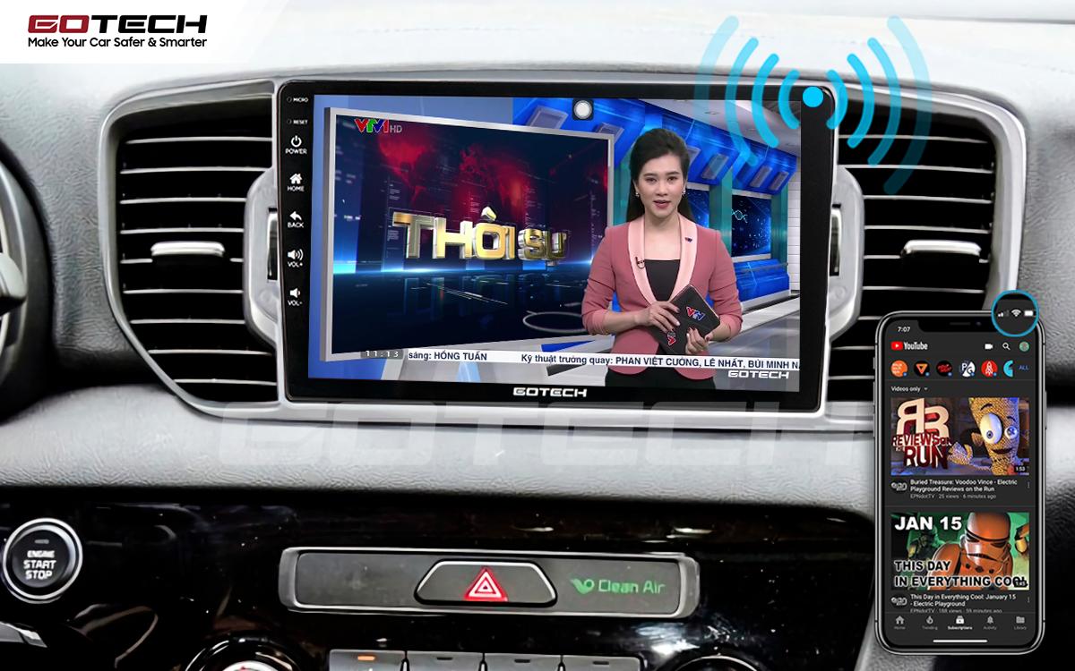 Màn hình ô tô GOTECH cung cấp wifi cho các thiết bị khác trên xe