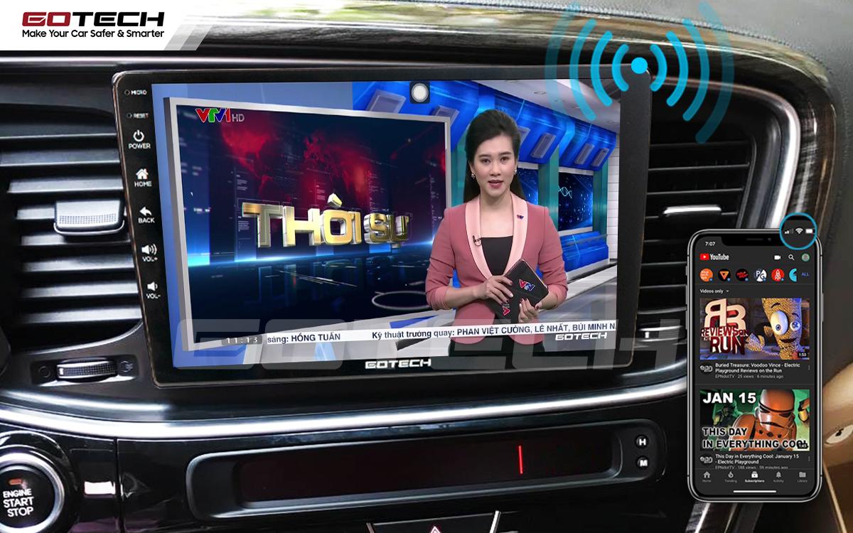 Màn hình ô tô GOTECH chia sẻ wifi cho các thiết bị trên xe mà không cần ổ phát