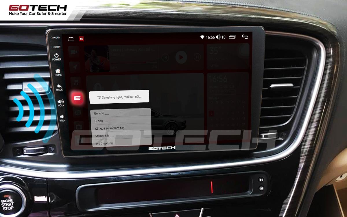 Ra lệnh giọng nói thông minh, linh hoạt trên màn hình ô tô GOTECH