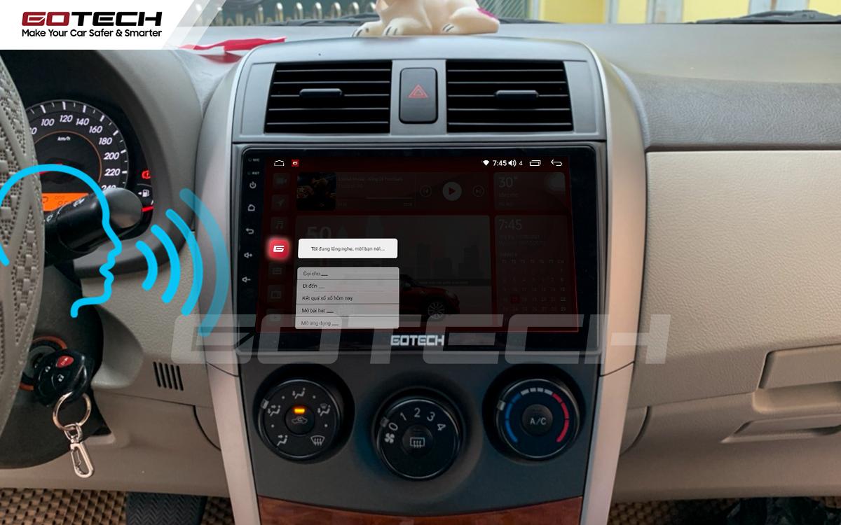 Ra lệnh giọng nói thông minh trên màn hình ô tô GOTECH cho xe Toyota Altis 2008 - 2013