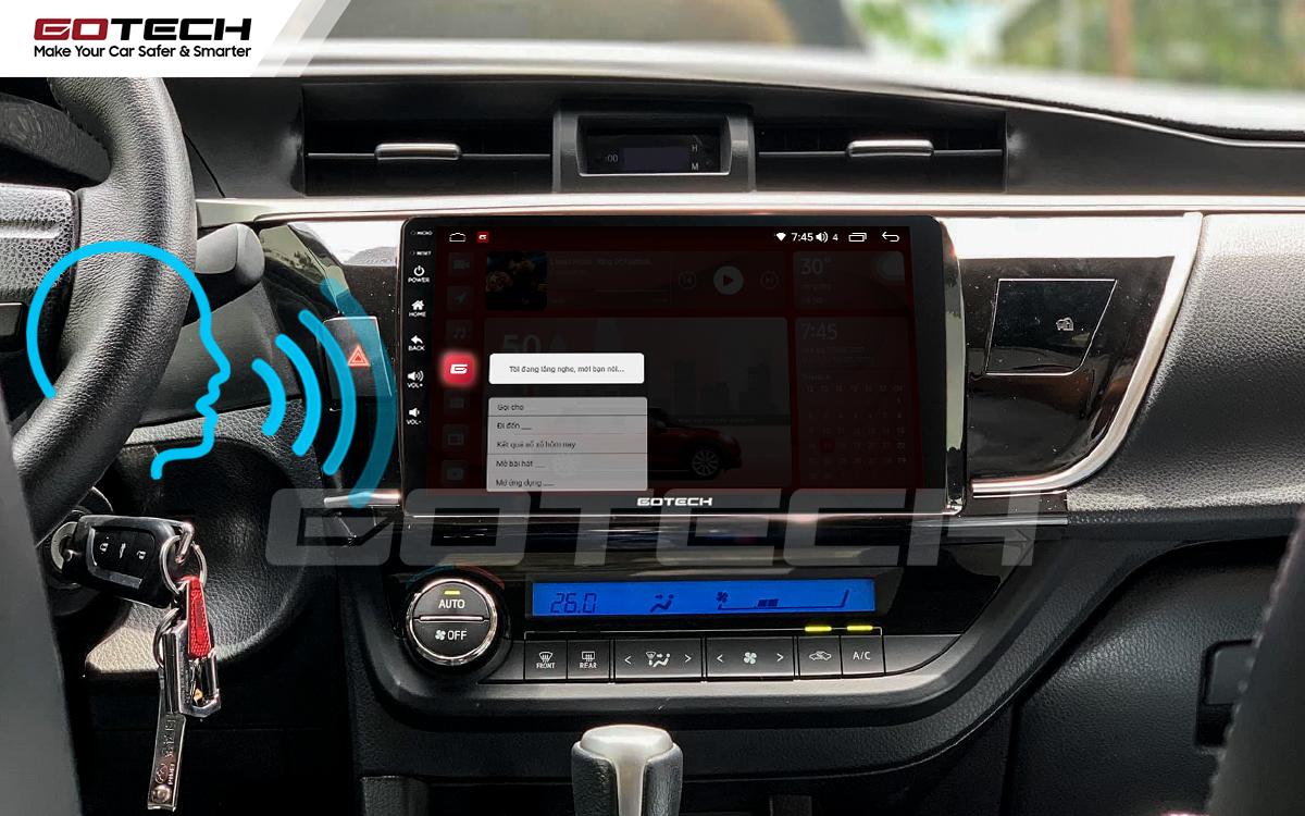 Ra lệnh giọng nói thông minh trên màn hình ô tô GOTECH cho xe Toyota Altis 2014 - 2017