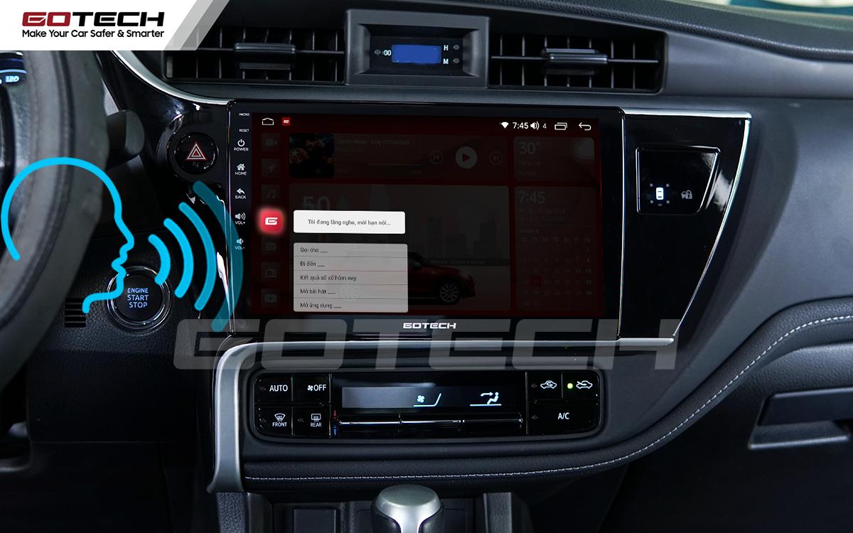 Ra lệnh giọng nói thông minh trên màn hình ô tô GOTECH cho xe Toyota Altis 2018 - 2019
