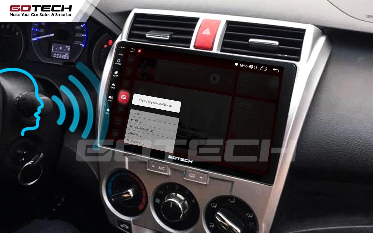 Ra lệnh giọng nói tiếng Việt nhanh nhạy trên màn hình ô tô thông minh GOTECH