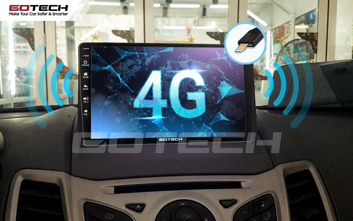 Sim 4G kết nối internet tốc độ cao trên màn hình ô tô GOTECH cho xe Ford Fiesta 2011-2018