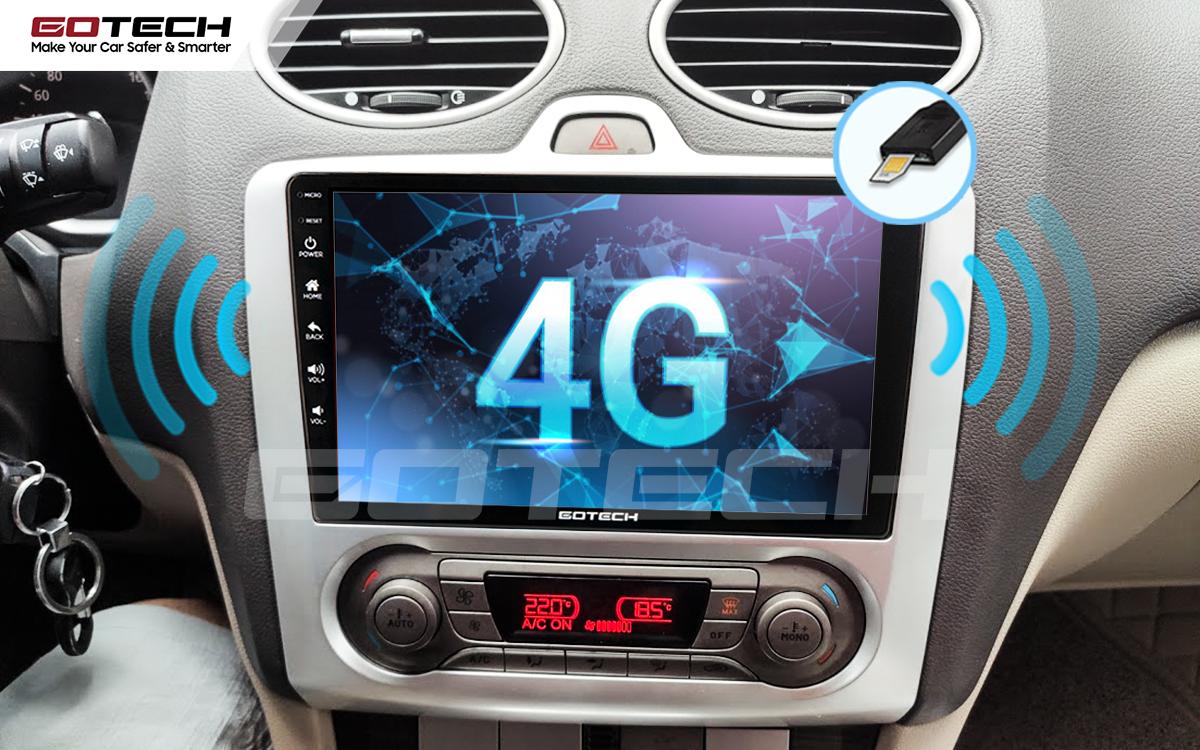 Sim 4G kết nối internet tốc độ cao trên màn hình ô tô GOTECH cho xe Ford Focus 2005-2012