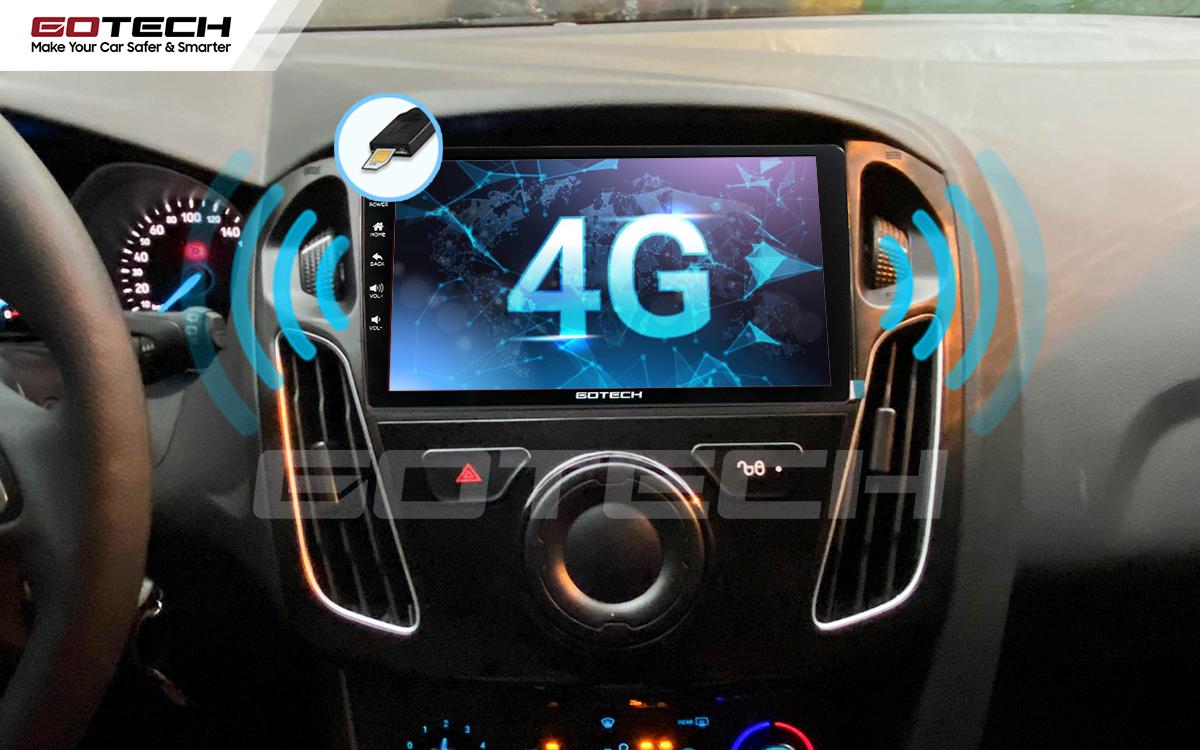 Sim 4G kết nối internet tốc độ cao trên màn hình ô tô GOTECH cho xe Ford Focus 2014-2018