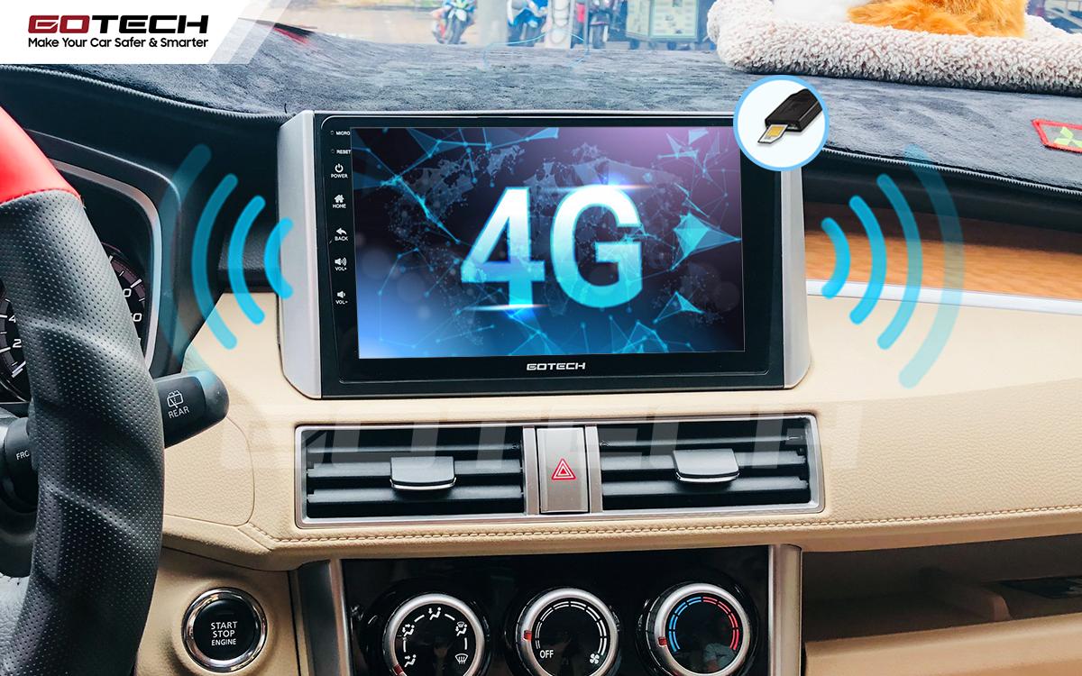 Sim 4G kết nối internet tốc độ cao trên màn hình ô tô GOTECH cho xe Mitsubishi Xpander 2018-2020