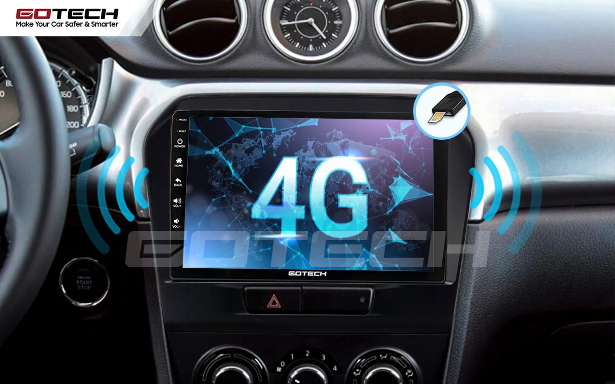 Sim 4G kết nối internet tốc độ cao trên màn hình ô tô GOTECH cho xe Suzuki Vitara 2016-2018