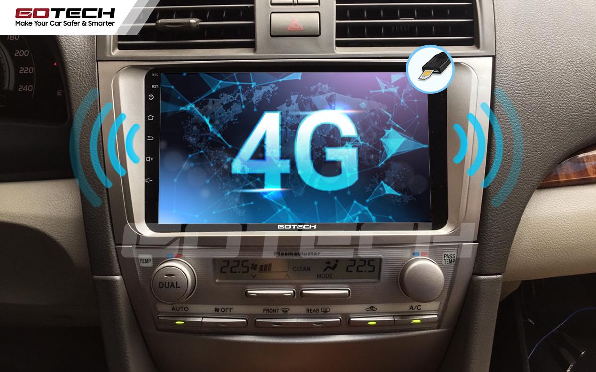 Sim 4G kết nối internet tốc độ cao trên màn hình ô tô GOTECH cho xe Toyota Camry 2007-2012