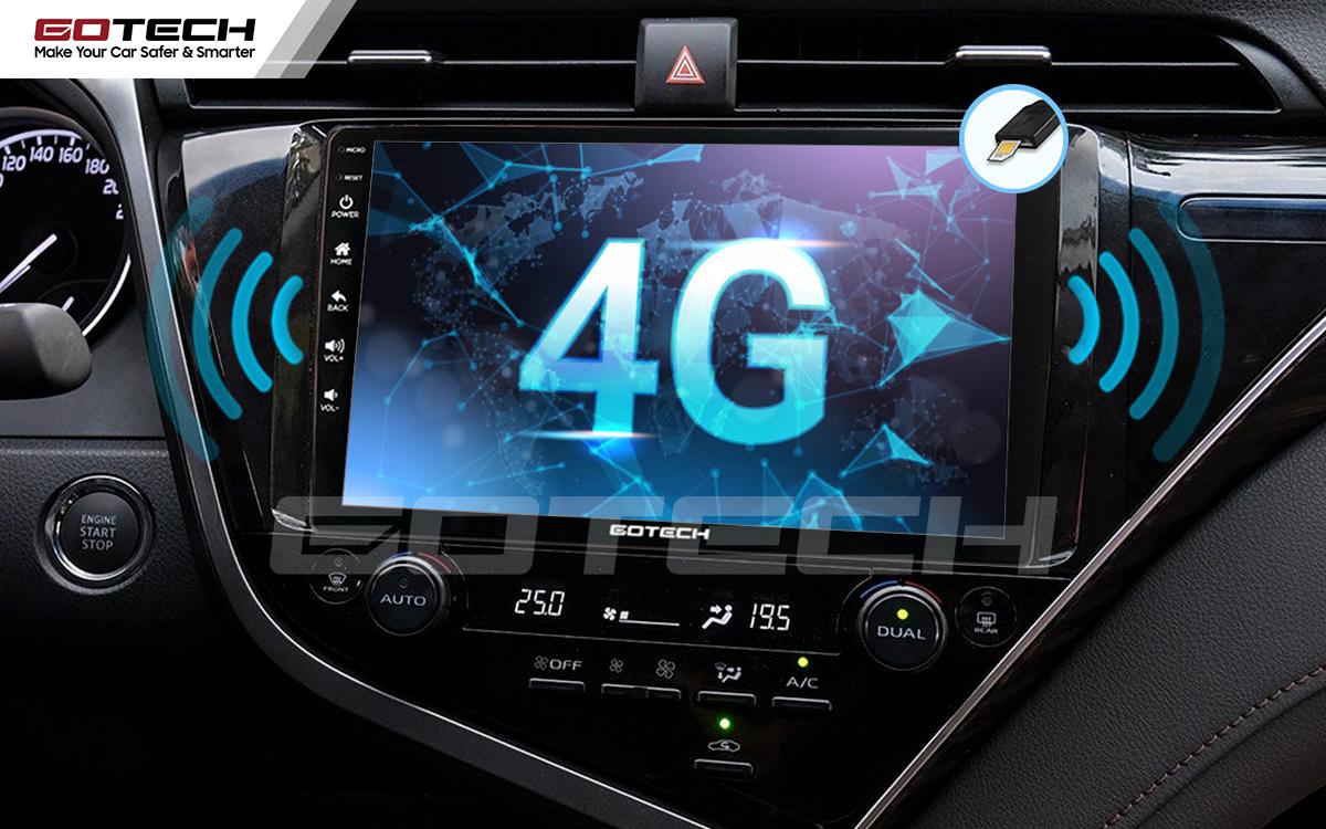 Sim 4G kết nối internet tốc độ cao trên màn hình ô tô GOTECH cho xe Toyota Camry 2019-2020