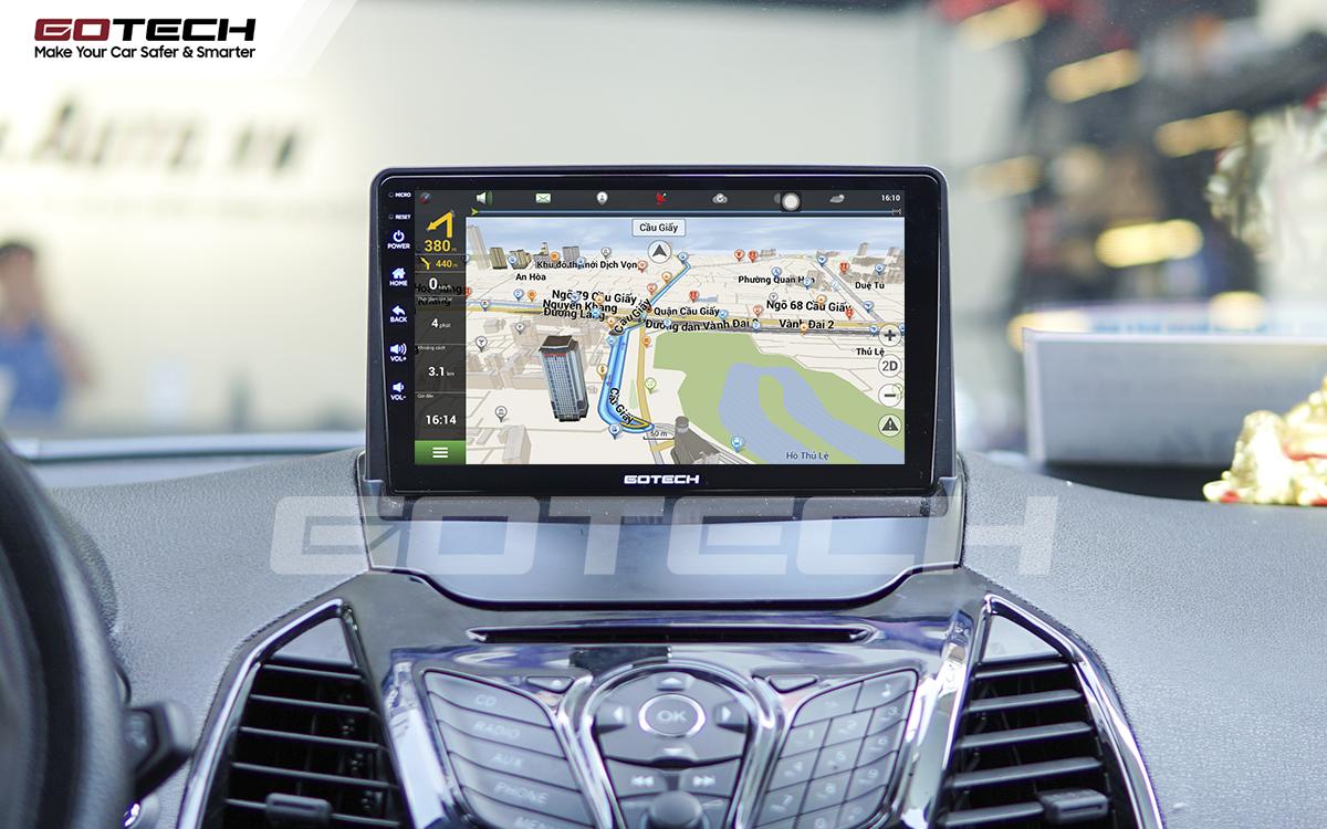 Tích hợp các bản đồ dẫn đường thông minh và thao tác dễ dàng cho xe Ford Ecosport 2014-2017