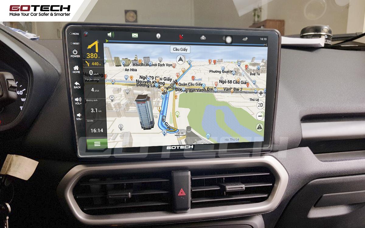 Tích hợp các bản đồ dẫn đường thông minh và thao tác dễ dàng cho xe Ford Ecosport 2018-2020