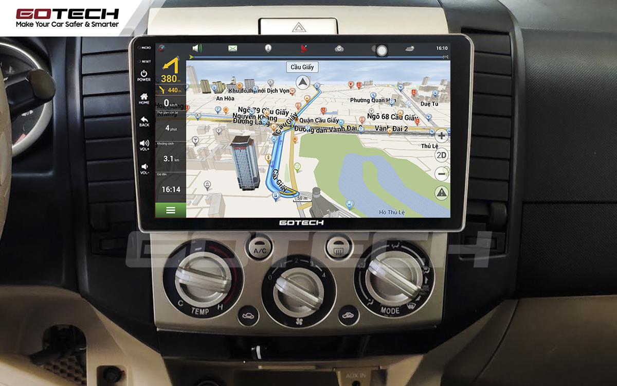 Tích hợp các bản đồ dẫn đường thông minh và thao tác dễ dàng cho xe Ford Everest 2009-2015