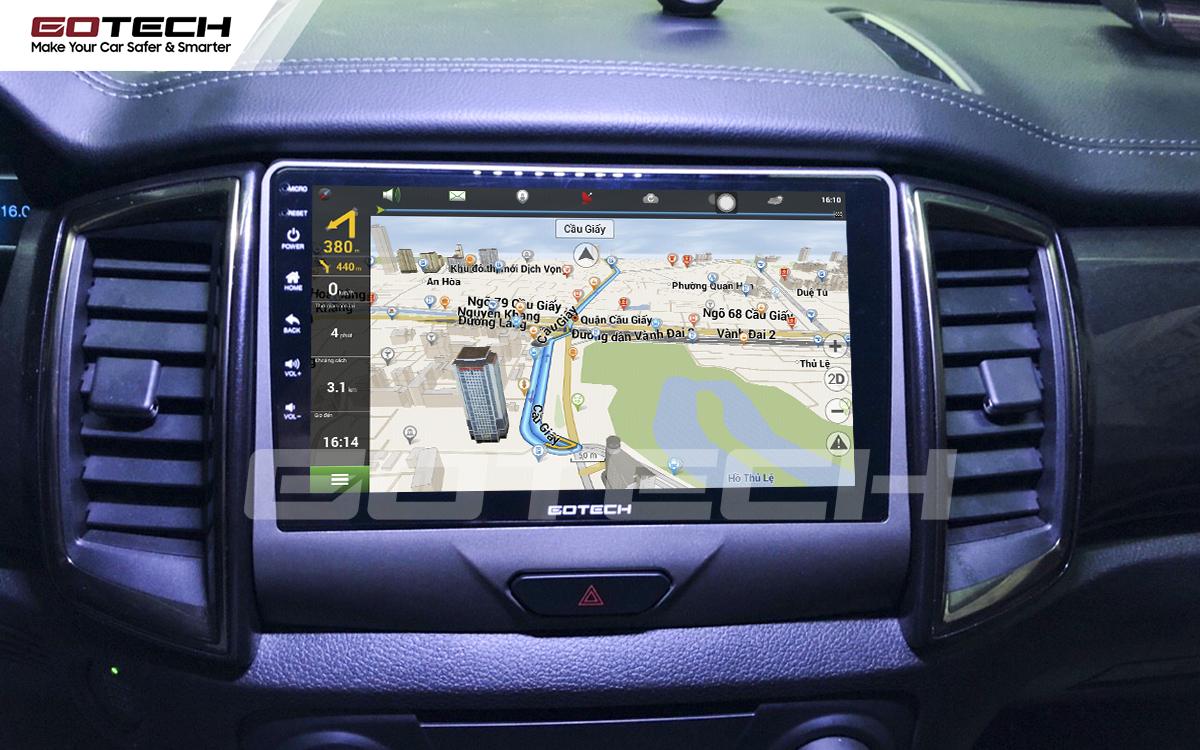 Tích hợp các bản đồ dẫn đường thông minh và thao tác dễ dàng cho xe Ford Everest 2019-2020