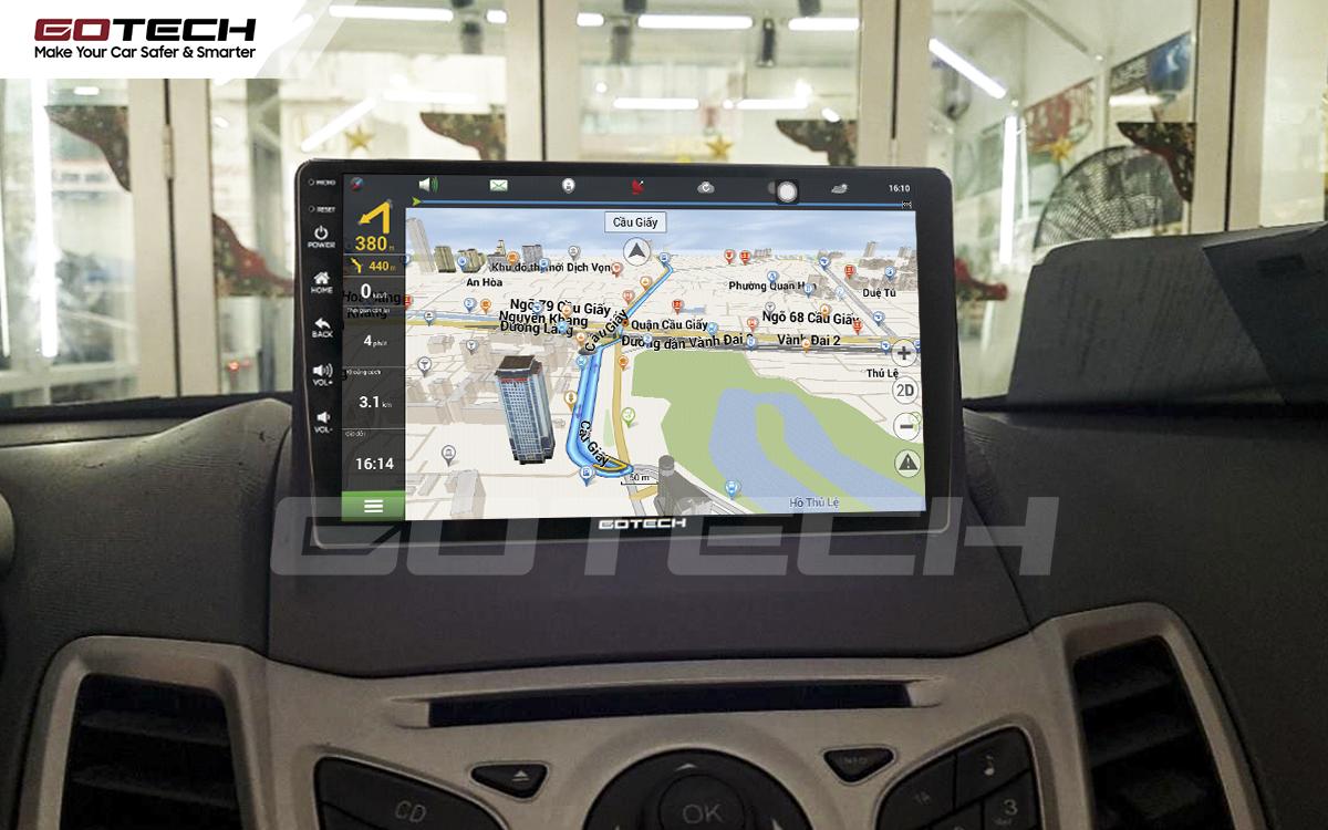 Tích hợp các bản đồ dẫn đường thông minh và thao tác dễ dàng cho xe Ford Fiesta 2011-2018