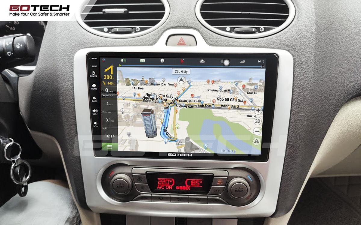 Tích hợp các bản đồ dẫn đường thông minh và thao tác dễ dàng cho xe Ford Focus 2005-2012