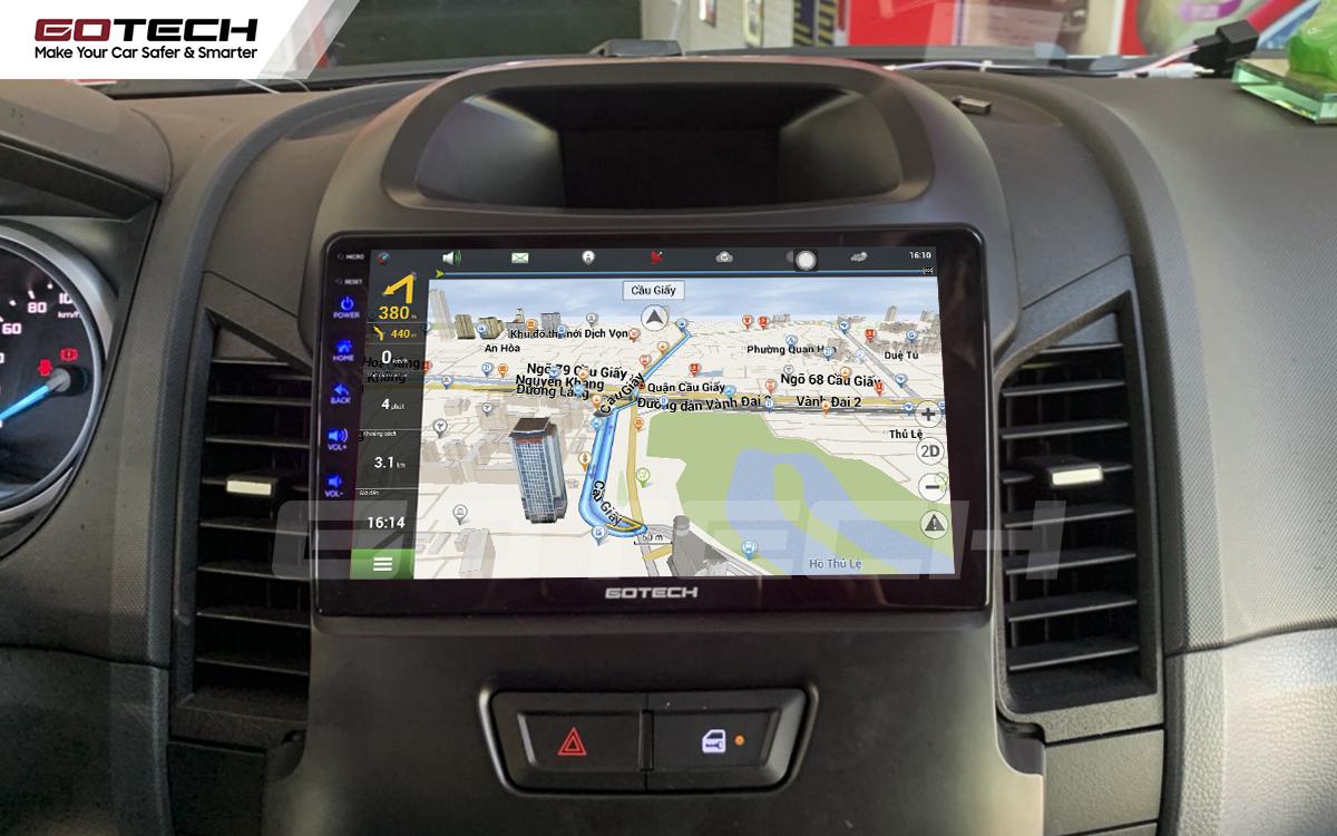 Tích hợp các bản đồ dẫn đường thông minh và thao tác dễ dàng cho xe Ford Ranger 2013-2018