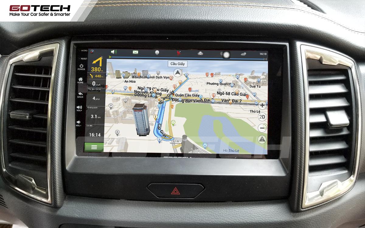 Tích hợp các bản đồ dẫn đường thông minh và thao tác dễ dàng cho xe Ford Ranger Wildtrak