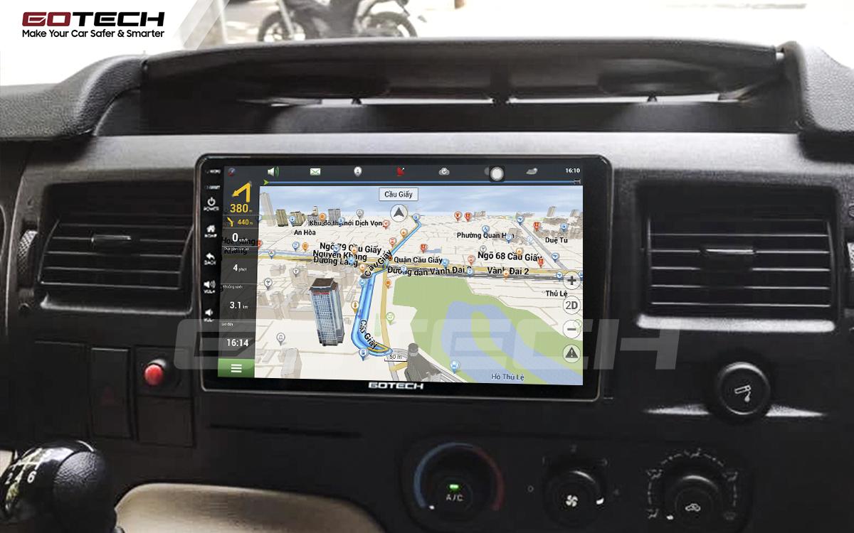 Tích hợp các bản đồ dẫn đường thông minh và thao tác dễ dàng cho xe Ford Transit