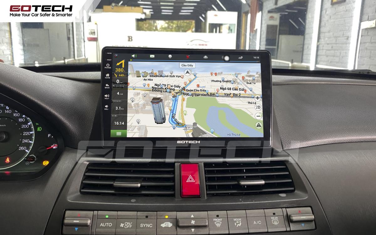 Tích hợp các bản đồ dẫn đường thông minh và thao tác dễ dàng cho xe Honda Accord 2007-2013