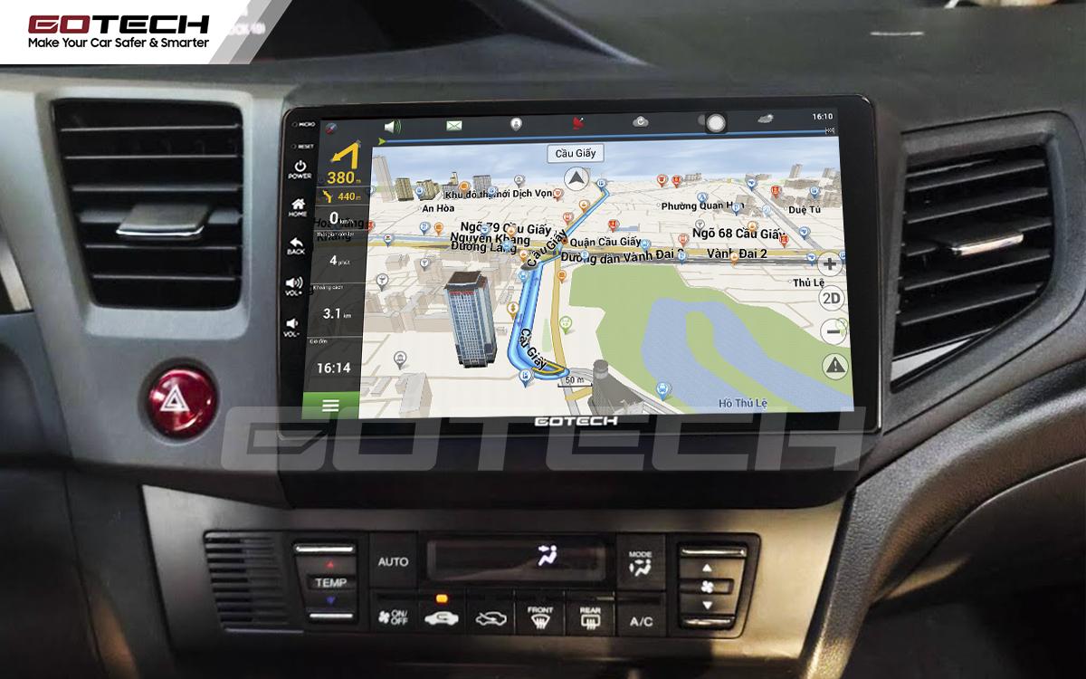 Tích hợp các bản đồ dẫn đường thông minh và thao tác dễ dàng cho xe Honda Civic 2013-2015
