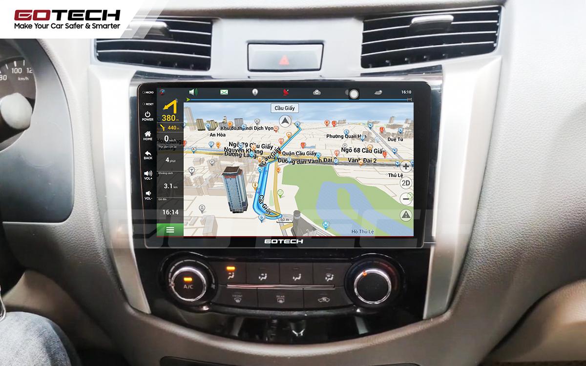 Tích hợp bản đồ dẫn đường thông minh trên màn hình ô tô GOTECH cho xe Nissan Navara
