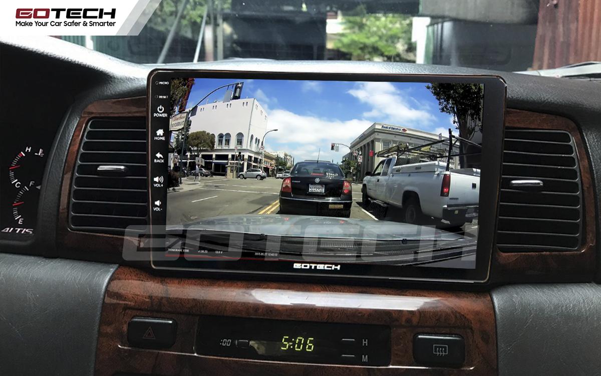 Màn hình GOTECH cho xe Toyota Altis tích hợp camera hỗ trợ quan sát an toàn