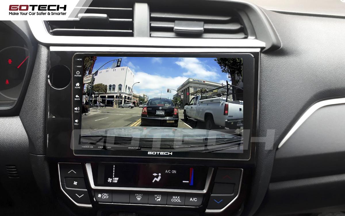 Kết nối các loại camera lên màn hình ô tô thông minh GOTECH cho xe Honda Brio