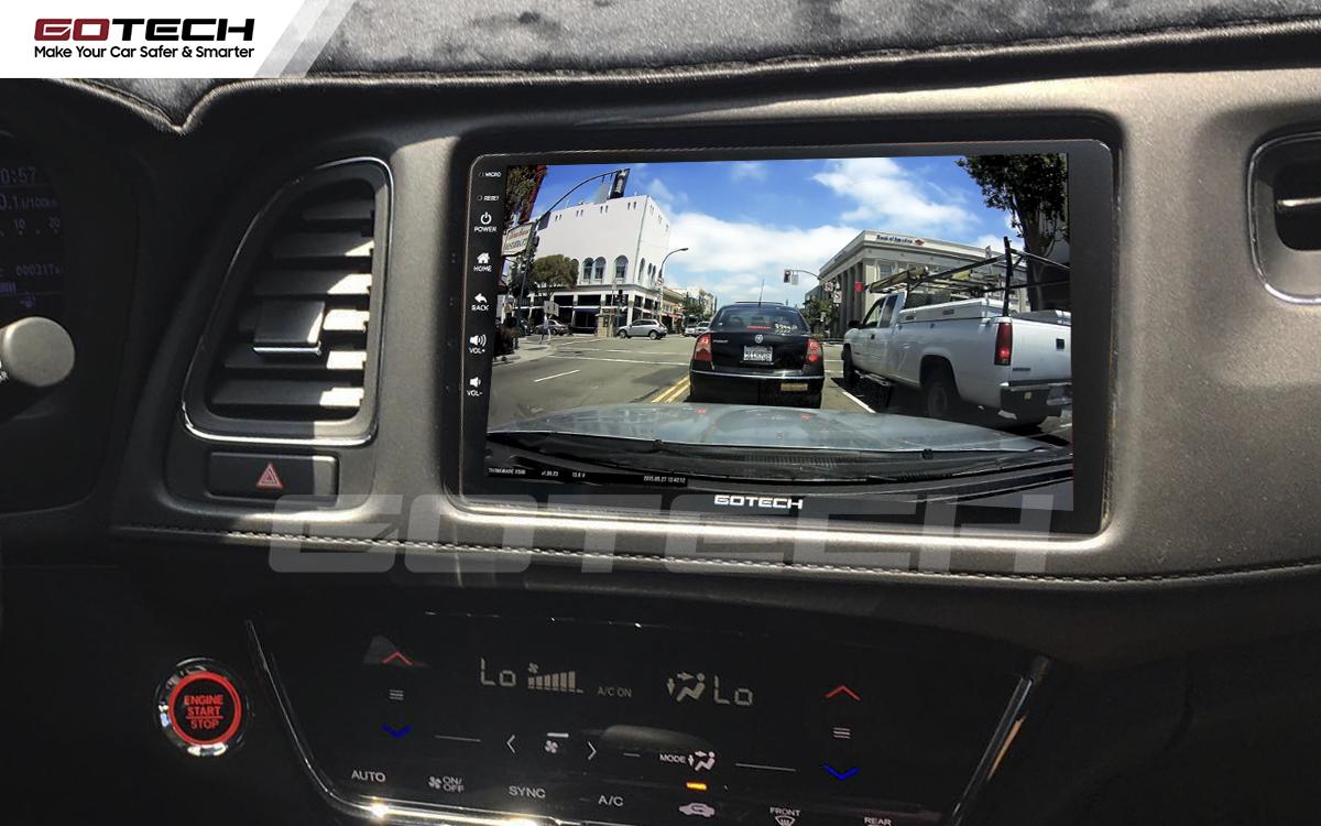 Màn hình GOTECH tích hợp các loại camera hỗ trợ quan sát trong quá trình lái xe