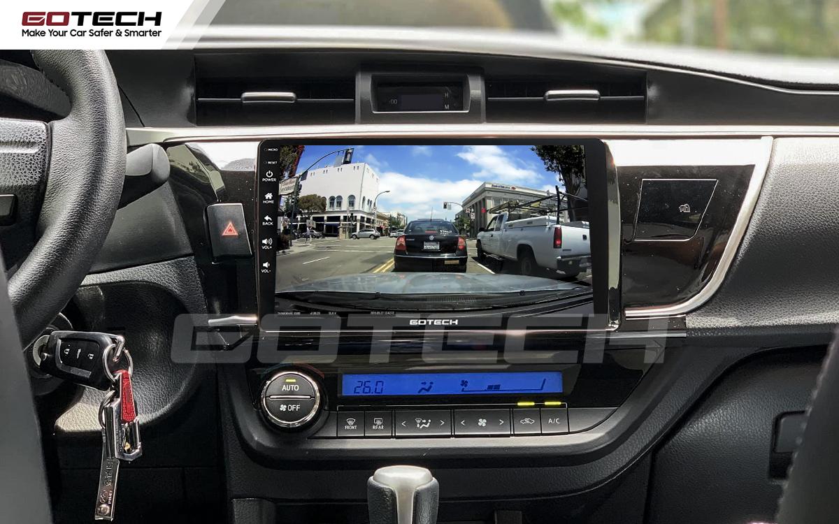 Tích hợp các loại camera trực tiếp lên màn hình GOTECH cho xe Altis 2014 - 2017