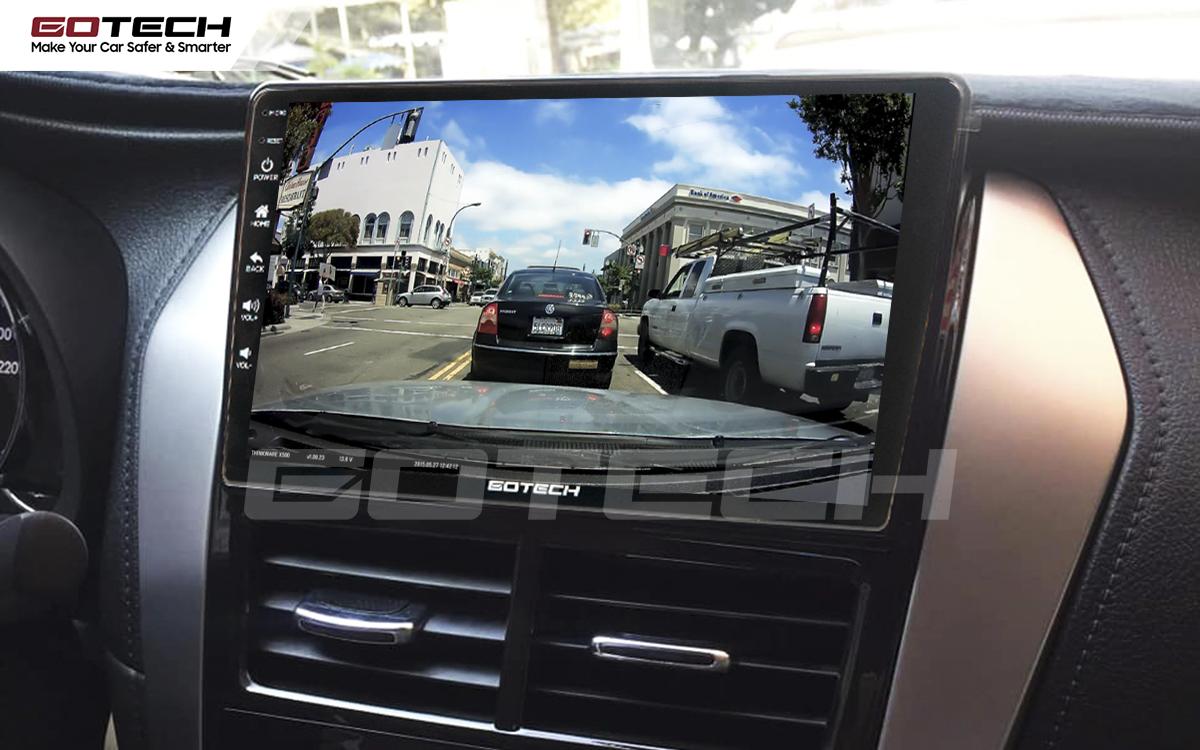 Tích hợp các loại camera lên màn hình ô tô GOTECH cho xe Toyota Vios