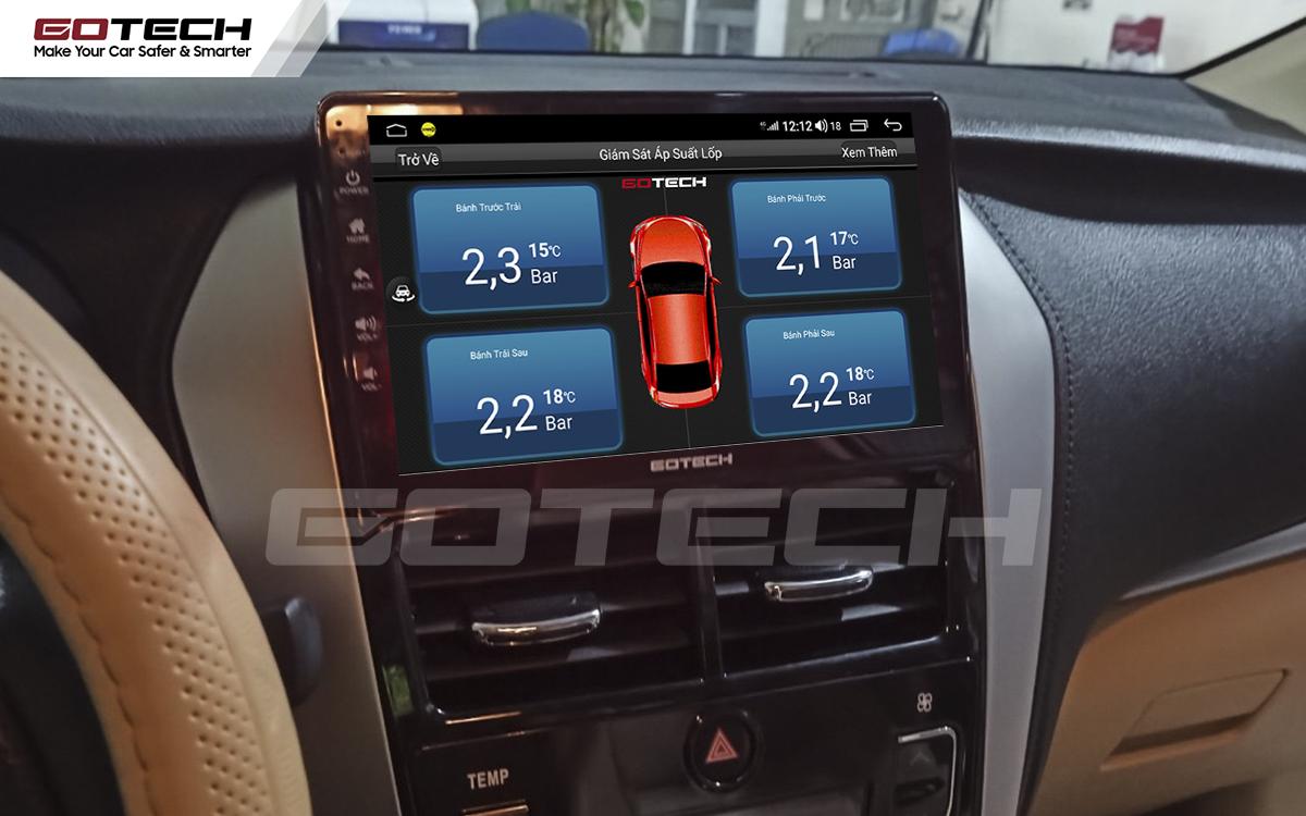 Tích hợp cảm biến áp suất lốp lên màn hình ô tô GOTECH cho xe Toyota Vios G 2019 - 2020