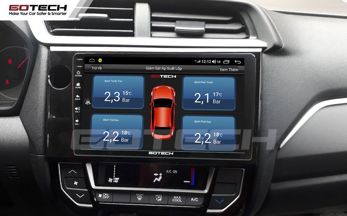 Tích hợp cảm biến áp suất lốp lên màn hình GOTECH cho xe Honda Brio