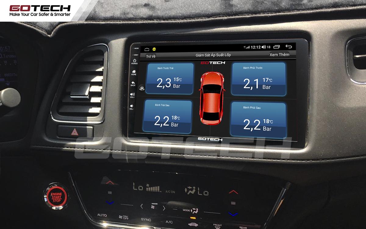 Tích hợp cảm biến áp suất lốp lên màn hình GOTECH cho xe Honda HRV