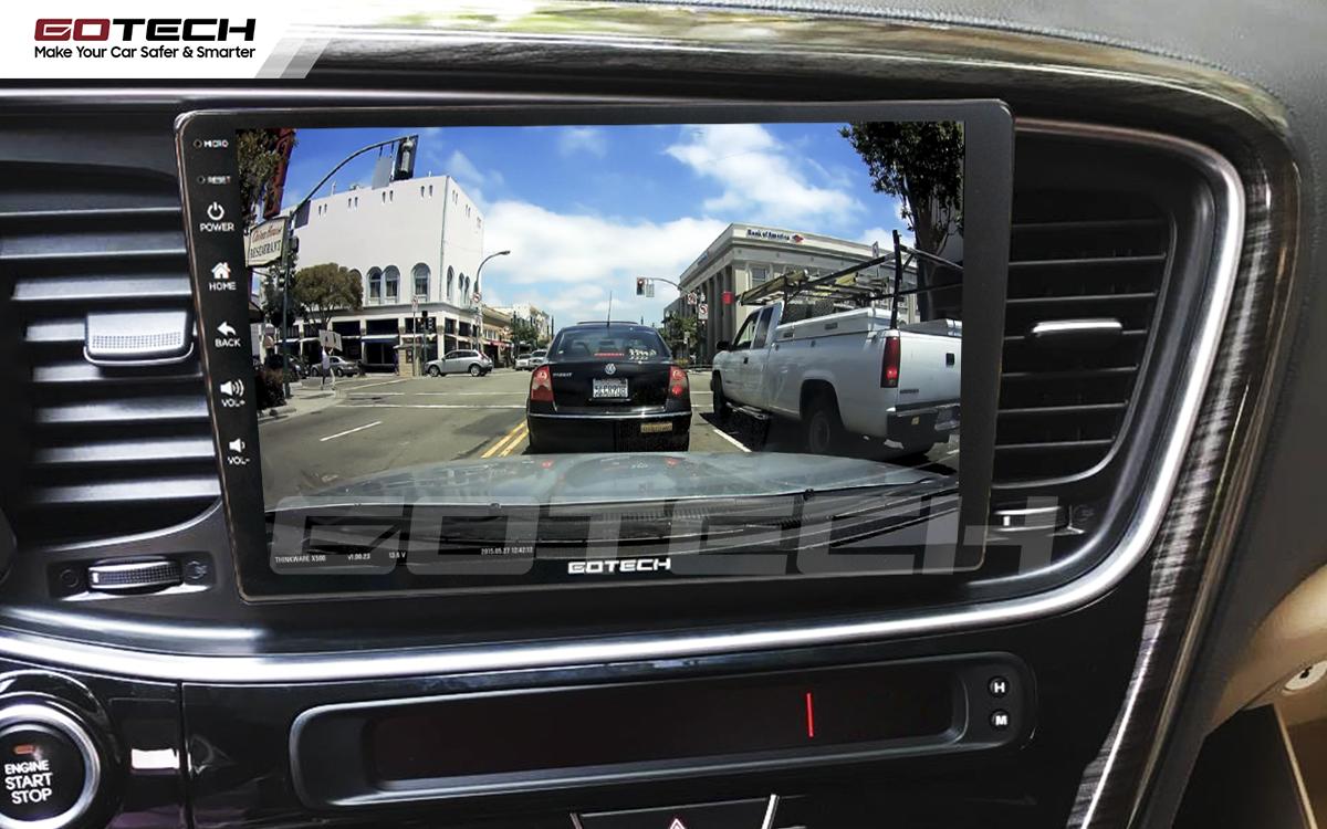 Màn hình ô tô GOTECH tích hợp các thiết bị ngoại vi hỗ trợ lái xe an toàn
