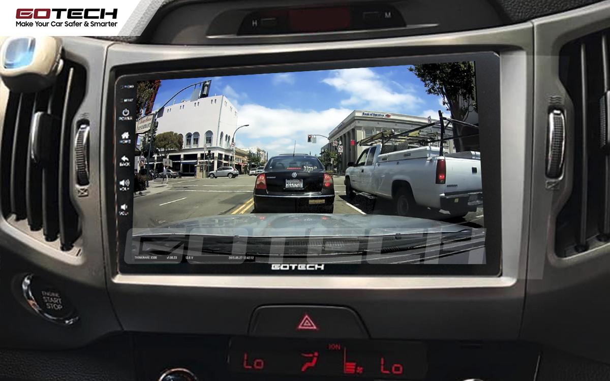 Tích hợp camera các loại lên màn hình ô tô thông minh GOTECH cho xe Kia Sportage 2011 - 2014