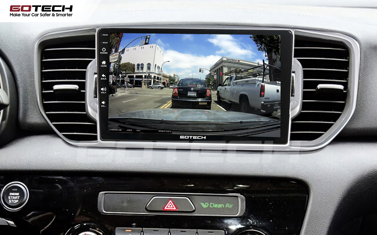 Kết nối camera các loại trực tiếp lên màn hình ô tô GOTECH