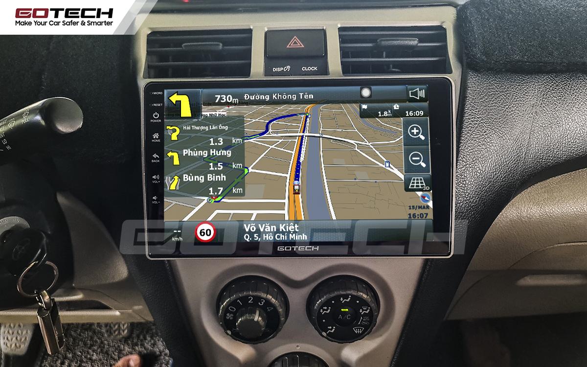 Các ứng dụng chỉ đường thông minh được tích hợp trên màn hình ô tô GOTECH cho xe Vios
