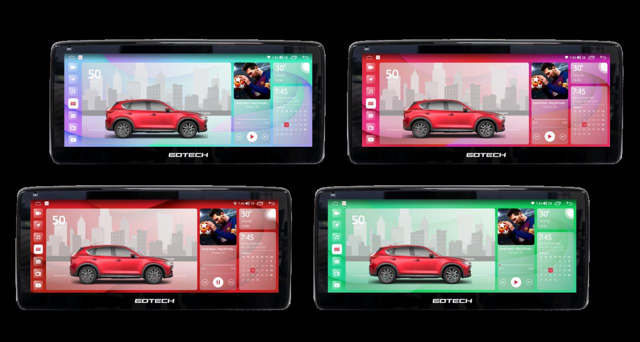 Giao diện màn hình ô tô thông minh GOTECH GT Mazda Pro