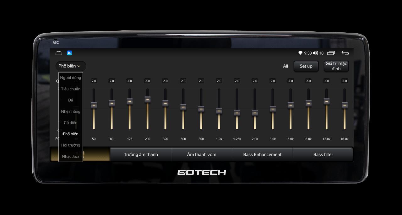 Màn hình GT - Mazda 360 Pro sở hữu bộ xử lý âm thanh DSP đỉnh cao