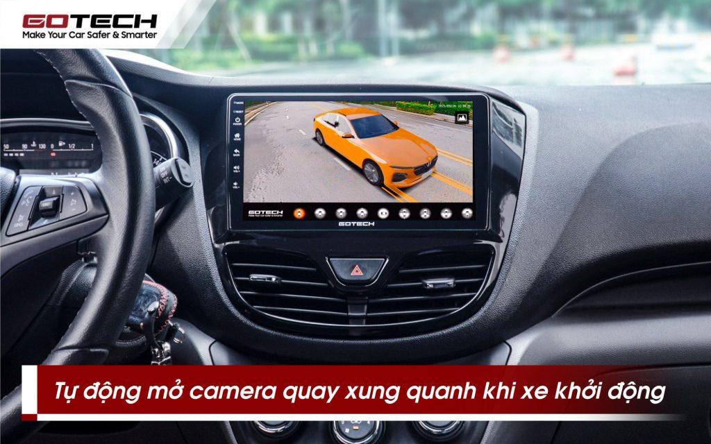 Camera 360 độ gotech gp6 tự động mở và ghi hình toành cảnh xung quanh khi xe khởi động.