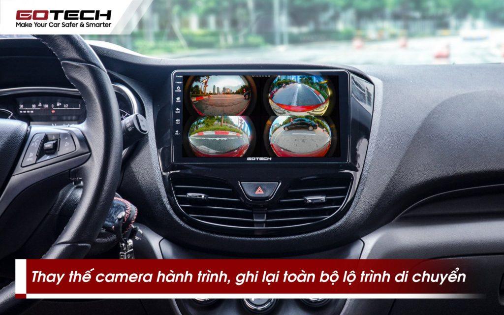 Camera 360 độ ô tô gotech gp6 ghi lại toàn bộ hành trình khi xe di chuyển