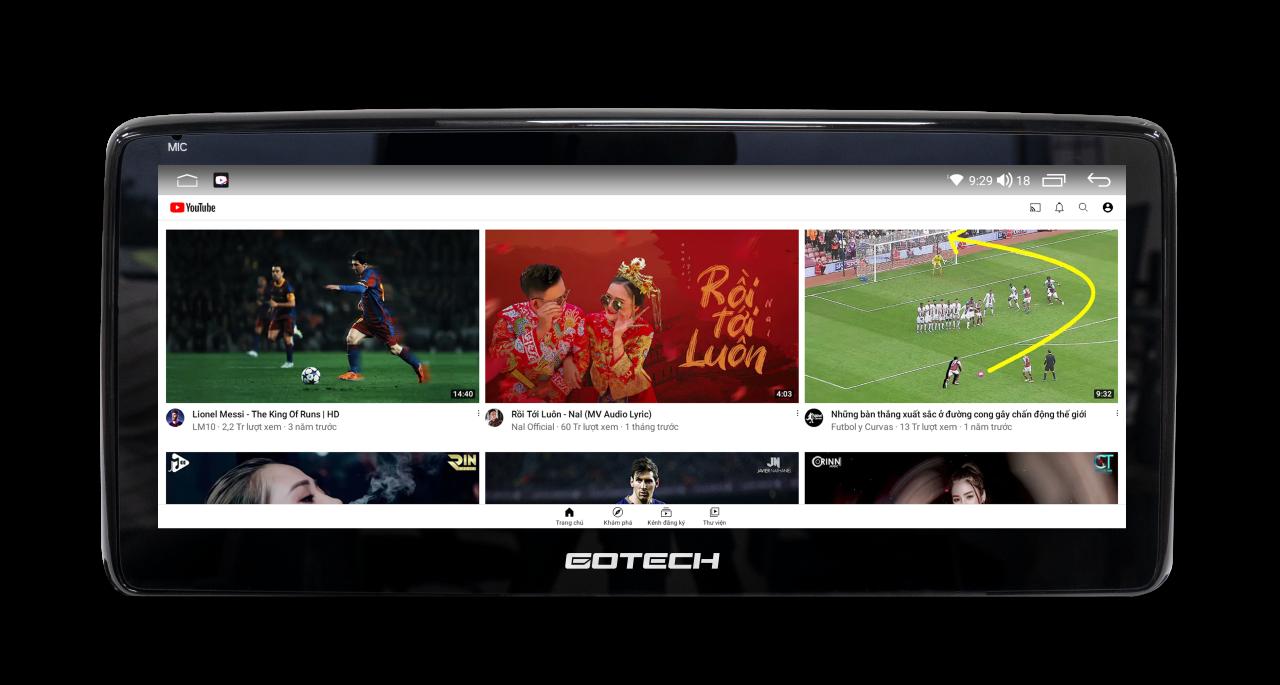 Thế giới giải trí đa dạng với màn hình GOTECH GT Mazda Limited