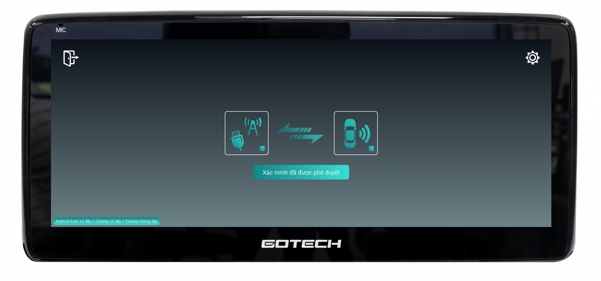 Kết nối với điện thoại thông qua Bluetooth hoặc Apple Carplay