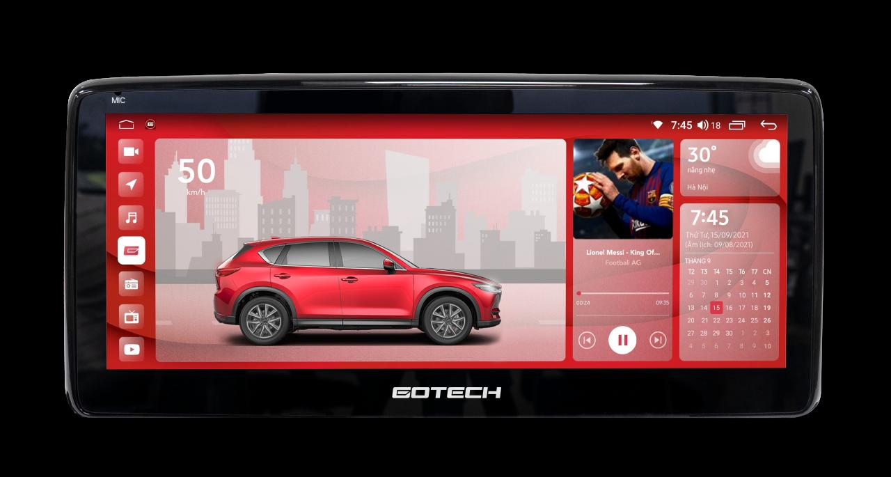 Kích thước màn hình GT Mazda Pro lớn, độ phân giải cao