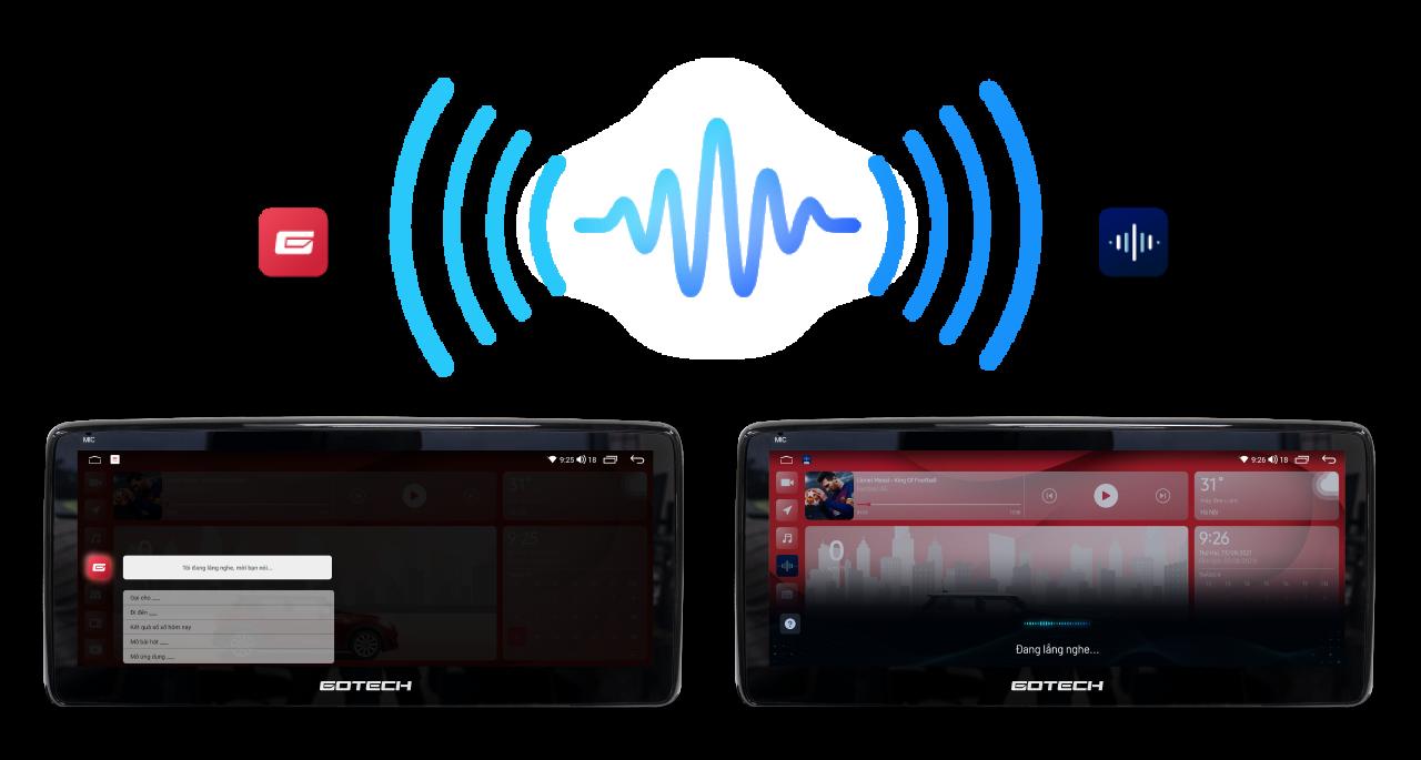 Màn hình GT - Mazda 360 Pro hỗ trợ ra lệnh giọng nói tiếng Việt thông minh